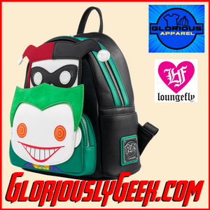 Apparel - Bags - Loungefly - DC Comics - Joker and Harley Quinn Pop! Mini Backpack