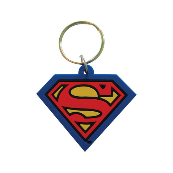 DC Comics - Superman Logo Rubber Keychain - Gloriously Geek