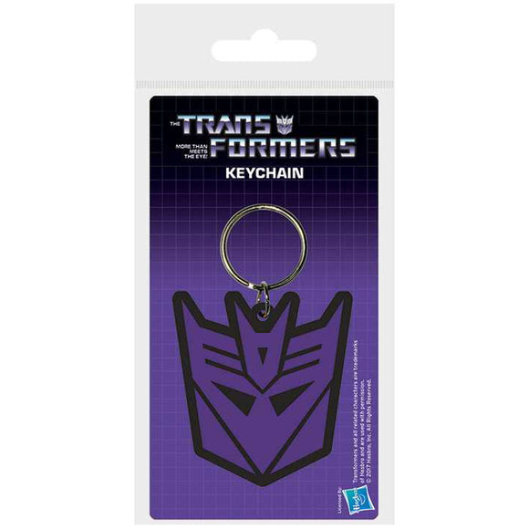 Transformers - Decepticon Rubber Keychain - Gloriously Geek