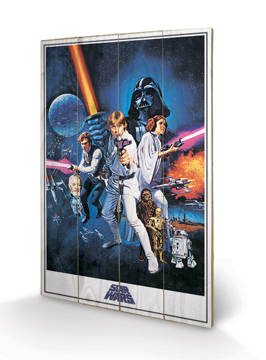 Star Wars - A New Hope Wooden Canvas Print - Gloriously Geek