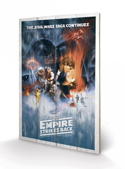 Star Wars - Empire Strikes Back Wooden Canvas Print - Gloriously Geek