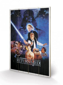 Star Wars - Return of the Jedi Wooden Canvas Print - Gloriously Geek