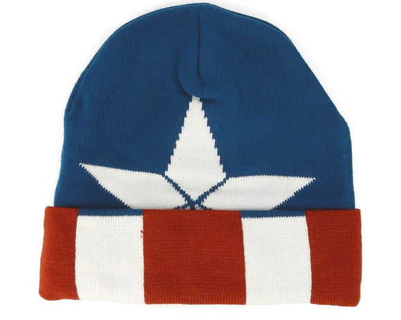 Marvel Comics - Captain America Knitted Beanie - Gloriously Geek