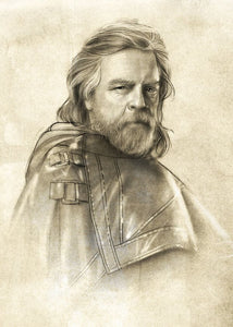 Displate 32 x 45 - Star Wars Luke Skywalker Sketch - Gloriously Geek