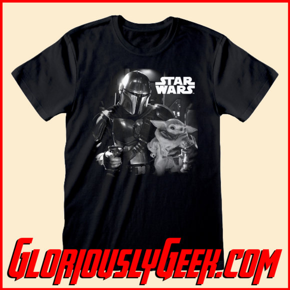 T-Shirt - Star Wars - The Mandalorian - Mando & Child - Gloriously Geek