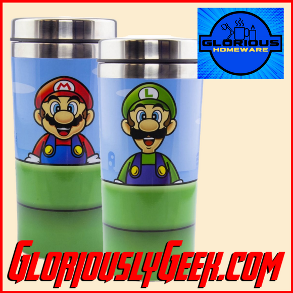 Home - Nintendo - Super Mario - Warp Pipe Metal Travel Mug
