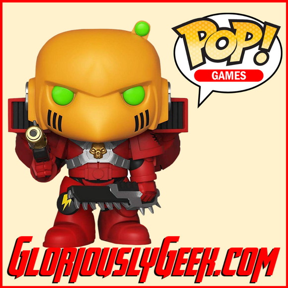 Funko - Games POP! Vinyl - Warhammer 40K - Blood Angels Assault Marine #500 - Gloriously Geek
