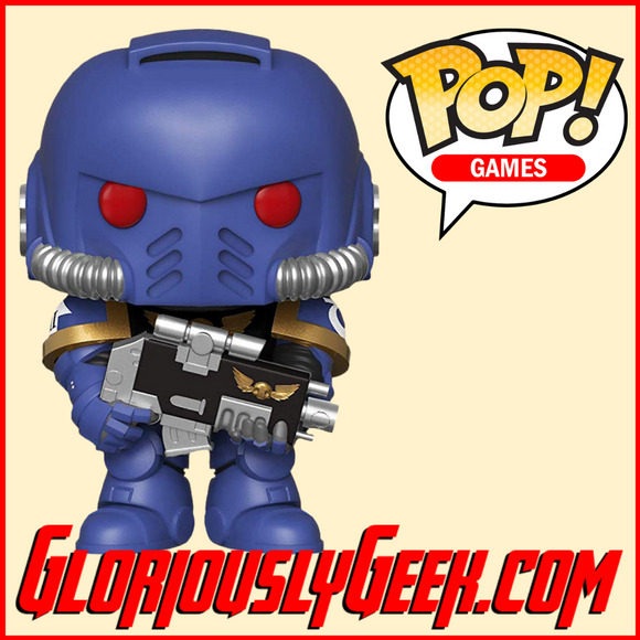 Funko - Games POP! Vinyl - Warhammer 40K - Ultramarines Intercessor #499 - Gloriously Geek