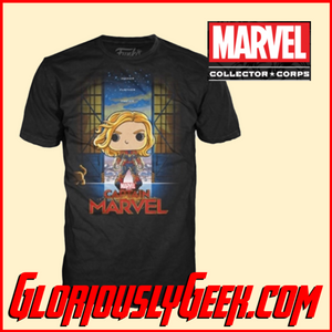 T-Shirt - Funko Marvel Collectors Corps - Captain Marvel - XL - Gloriously Geek