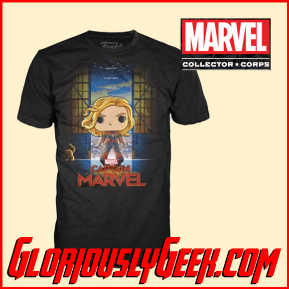 T-Shirt - Funko Marvel Collectors Corps - Captain Marvel - XL
