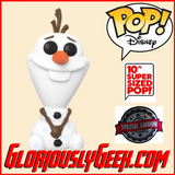 "Funko - Disney Pop! Vinyl - Frozen 2 - Olaf #583 (10"" Exclusive) - Gloriously Geek"