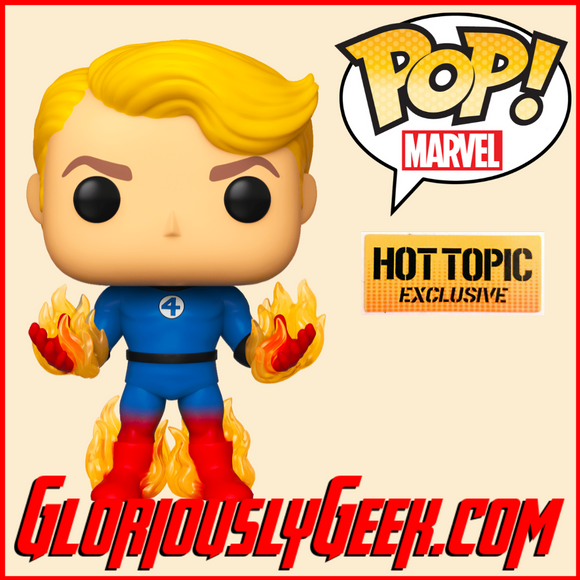 Funko - Marvel Pop! Vinyl - Fantastic Four - Human Torch #568 (Hot Topic) - Gloriously Geek