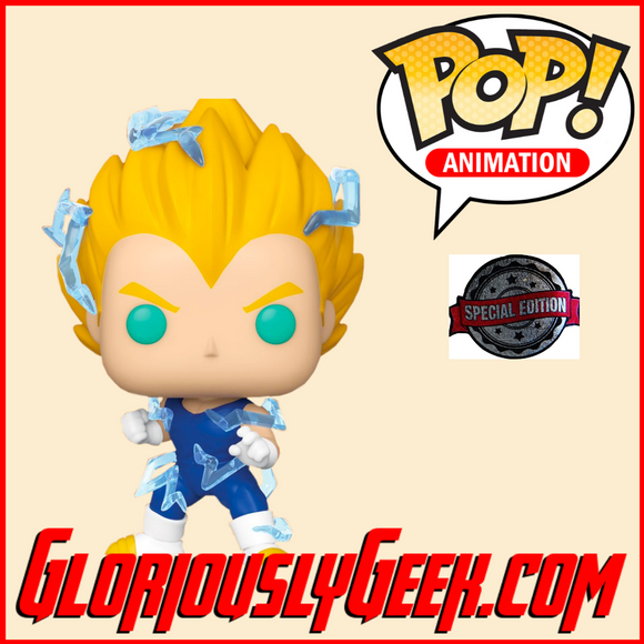 Funko - Animation Pop! Vinyl - Dragon Ball Z - Super Saiyan 2 Vegeta #709 (Exclusive) - Gloriously Geek
