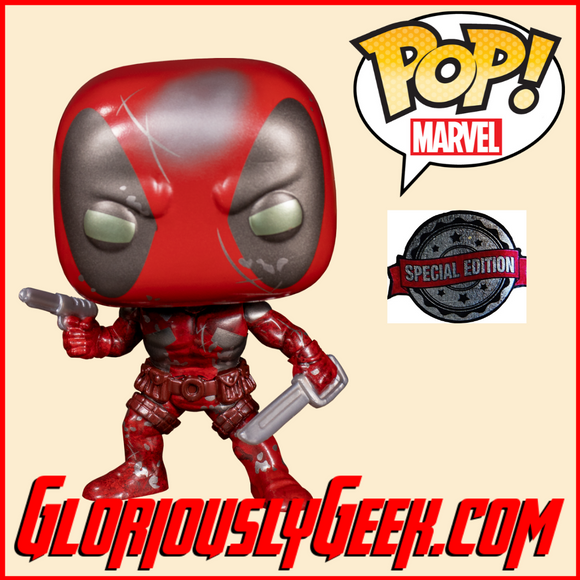 Funko - Marvel Pop! Vinyl - Marvel 80th - Deadpool #590 (Exclusive) - Gloriously Geek