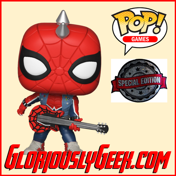 Funko - Game Pop! Vinyl - Spider-Man - Spider-Punk #503 (Exclusive) - Gloriously Geek