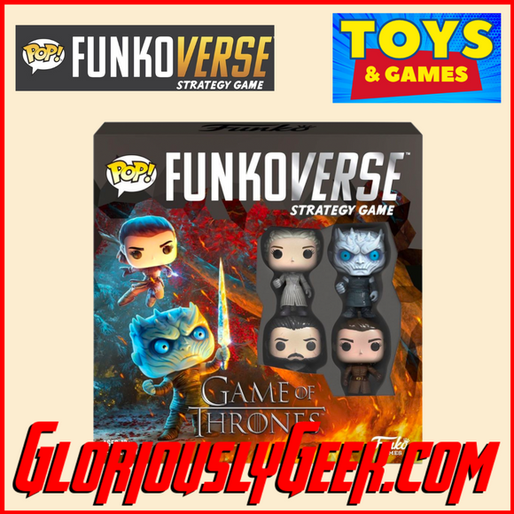 Copy of Game - Funkoverse Strategy Game - Game of Thrones - Daenerys, Night King, Jon Snow & Arya Stark