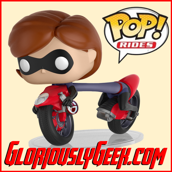 Funko - Pop! Rides Vinyl - Disney - Elastigirl on Elasticycle #45 - Gloriously Geek