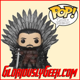 Funko - Game of Thrones Deluxe Pop! Vinyl - Jon Snow on the Iron Throne - Gloriously Geek