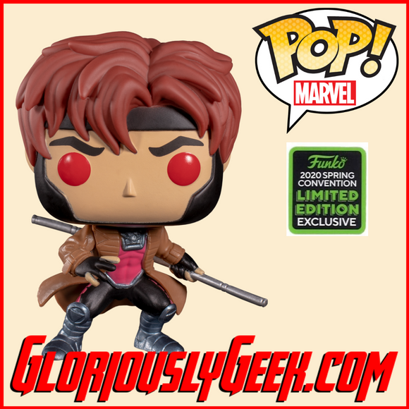 Funko - Marvel Pop! Vinyl -  X-Men - Gambit with Bo Staff #554