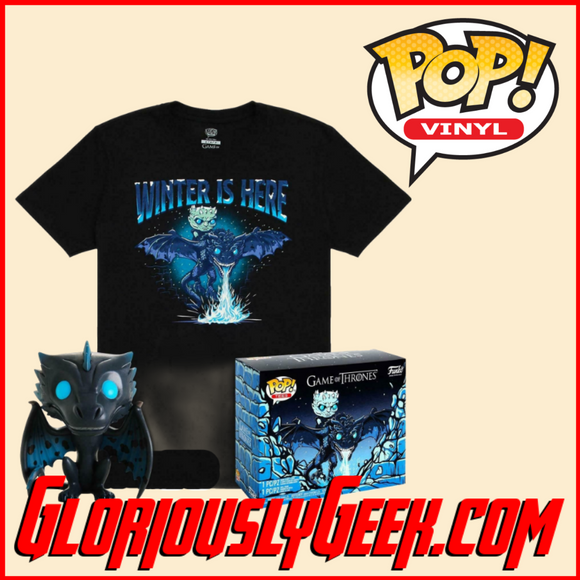 Funko - Game of Thrones Pop! Vinyl and Tee - Icy Viserion (GITD) #22 (Large)