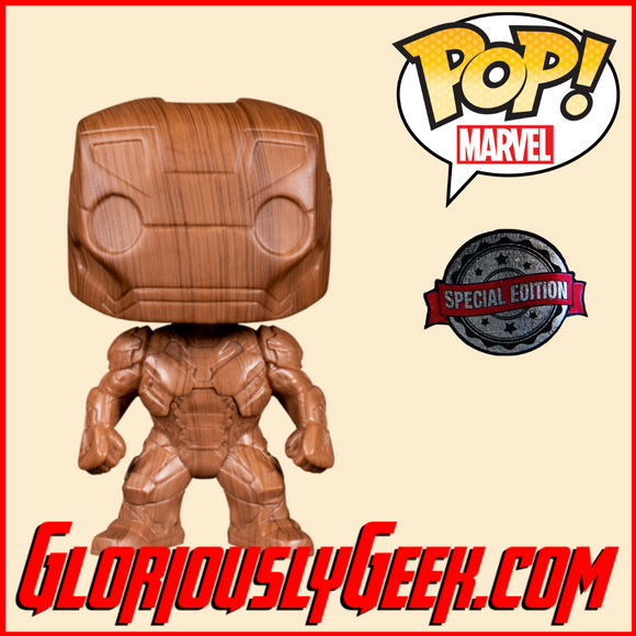 Funko - Marvel Pop! Vinyl - Iron Man (Wood) #674