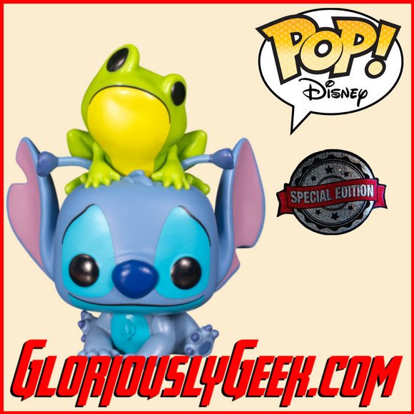 Funko - Disney Pop! Vinyl - Lilo and Stitch - Stitch with Frog #986