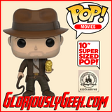 "Funko -  Movies Pop! Vinyl - Indiana Jones #885 (10"" Disney Parks Exclusive) - Gloriously Geek"
