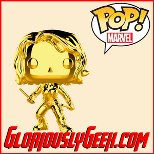 Funko - Marvel Pop! Vinyl - Black Widow (Gold Chrome) #380