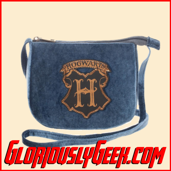 Apparel - Bags - Harry Potter - Hogwarts Crest Velvet Crossbody