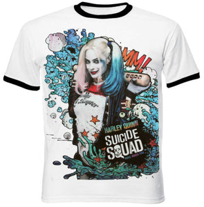 Suicide Squad - Premium Unisex Harley Quinn Graffiti Tee S/M/L - Gloriously Geek