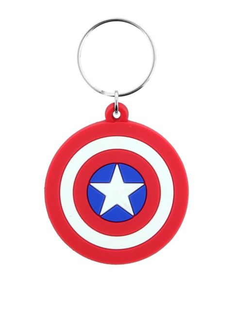 Marvel Comics - Captain America Shield Rubber Keychain - Gloriously Geek