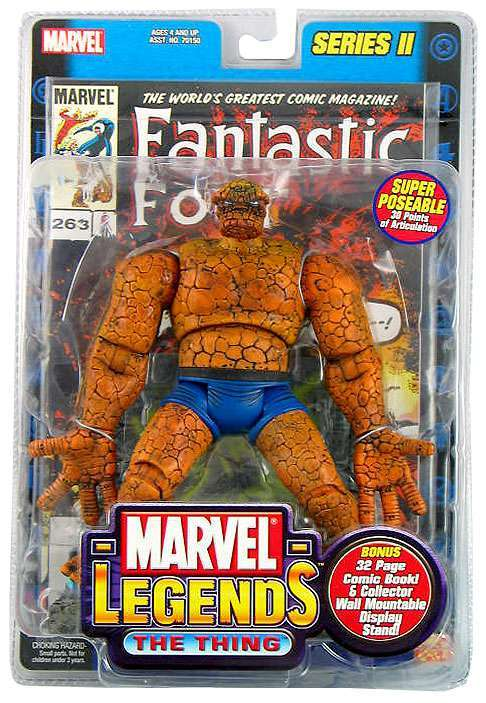 Marvel Legends - Series 2 The Thing (inc Gold Foil Comic) - Gloriously Geek