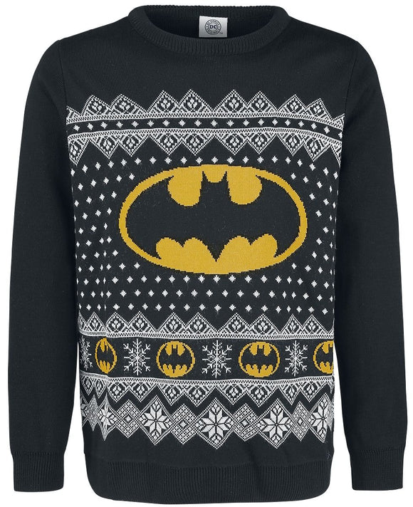 DC Comics - Batman Logo Christmas Jumper - Small - Gloriously Geek
