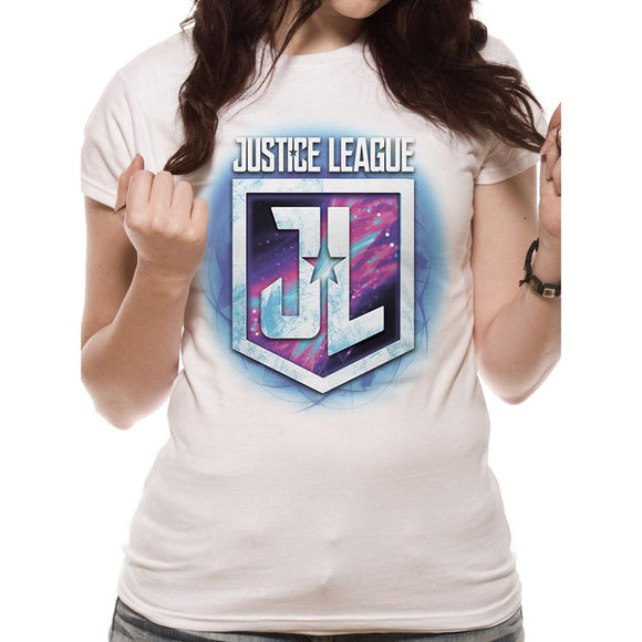 T- Shirt - DC Comics - Justice League Purple Logo - Womans XXL - Gloriously Geek