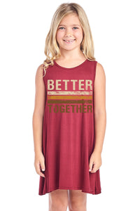 Better Together Sleeveless A-Line Dress