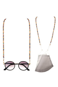 Woodbeads Face Mask and Glasses Lanyard