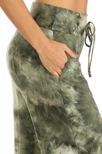 Wide Leg Tie Dye Lounge Palazzo Pants in 3 Colors