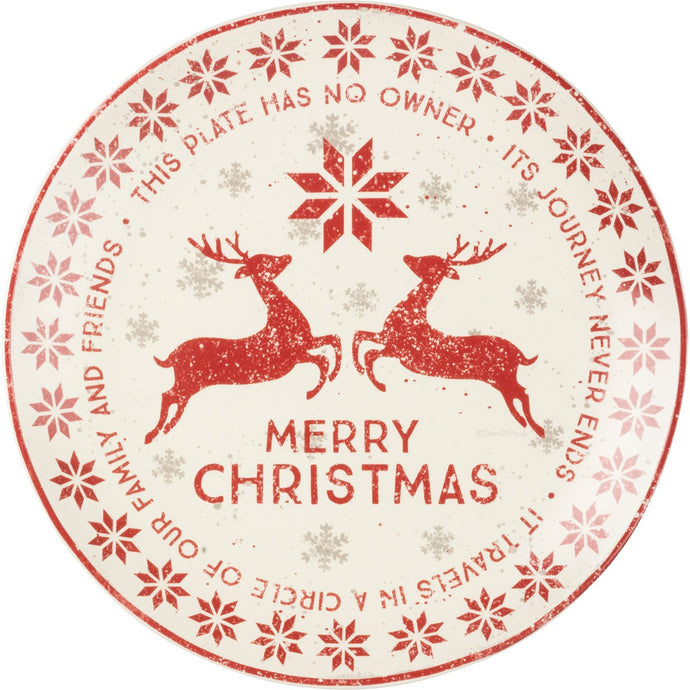 Merry Christmas Nordic Giving Plate