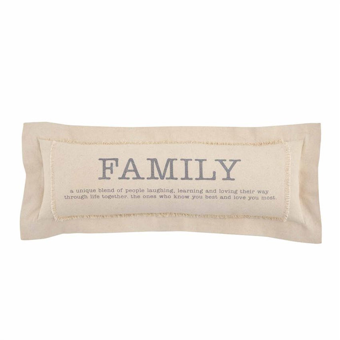 Family Definition Pillow by Mud Pie