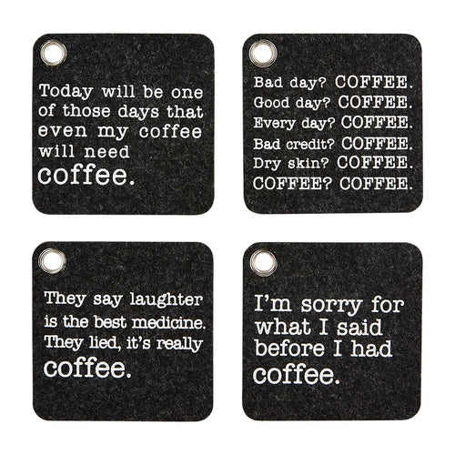 COFFEE FELT COASTER SET