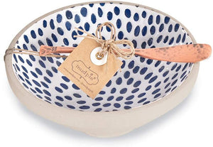 Dot Blue Dip Bowl Set