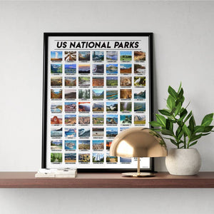US National Park Scratch Off Poster