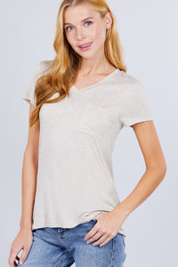Everyday V-Neck Tee with Pocket