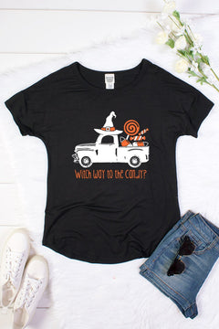 Witch Way to the Candy Tee in Black