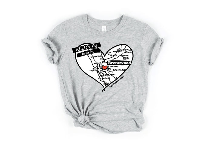 ALLUV the Love in Brentwood Tee