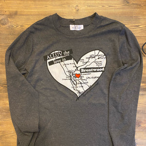 Alluv the Love in Brentwood Long Sleeve Tee