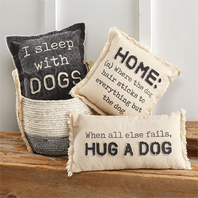 Washed Canvas Dog Pillow's