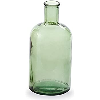 Small Green Bottleneck Vase - by Mud Pie