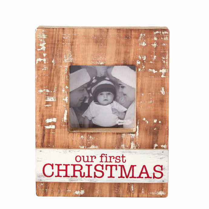 Our First Christmas Block Plaque Frame