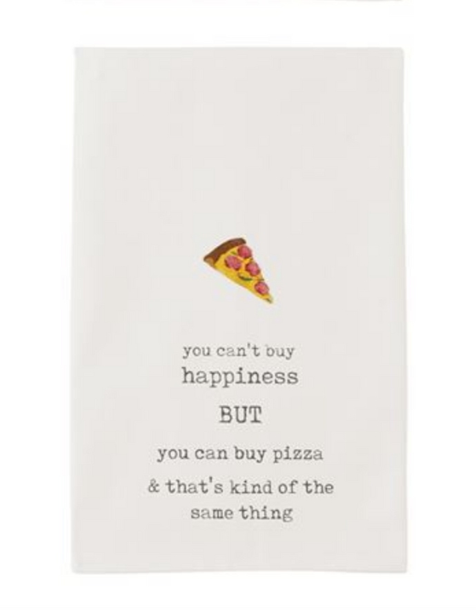 Tea Towel Happy and Pizza